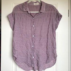 Bella Dahl Short Sleeve Button Up - Medium